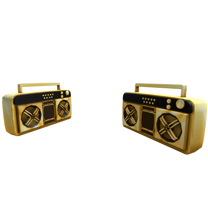 Dual Golden Super Fly Boomboxes
