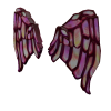 Stained Glass Wings in Rose
