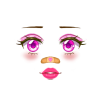 Super Pink Heart Makeup