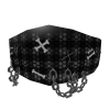 Grey Plaid Punk Mask