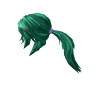 Teal Action Ponytail