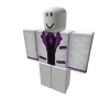 White Purple Banded Top Hat Suit [Top]