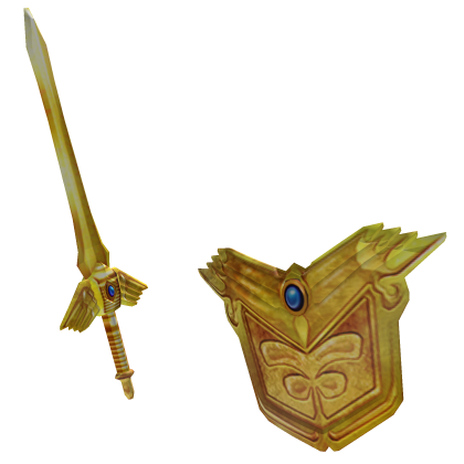 Epic Golden Sword and Shield