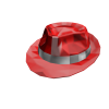 Red Sparkle Time Fedora
