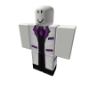 White Purple Banded Top Hat Suit [Bottom]