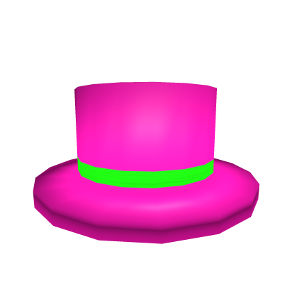 Neon Pink Top Hat Rolimon S
