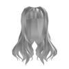 Silky Smooth Straight Bangs Silver