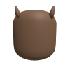 Skin Color Head w/  Horns